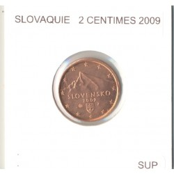 SLOVAQUIE 2009 2 CENTIMES SUP