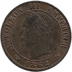 FRANCE 1 CENTIME NAPOLEON III 1862 K SUP