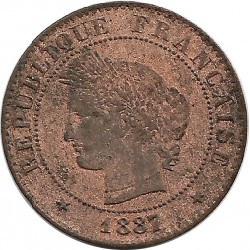 FRANCE 1 CENTIME CERES 1887 A TB