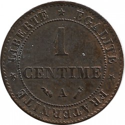 FRANCE 1 CENTIME CERES 1892 A SUP