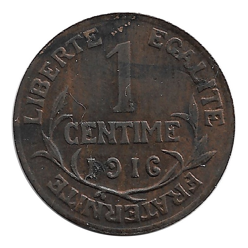 FRANCE 1 CENTIME DUPUIS 1916 TTB+