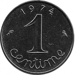 FRANCE 1 CENTIME INOX 1974 SUP