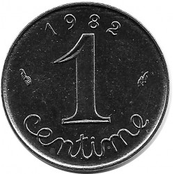 FRANCE 1 CENTIME EPI 1982 SUP