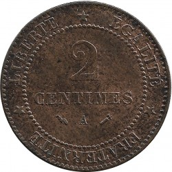 FRANCE 2 CENTIMES CERES 1884 A SUP