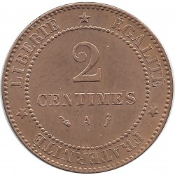 FRANCE 2 CENTIMES CERES 1889 A SUP+