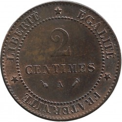 FRANCE 2 CENTIMES CERES 1893 A SUP