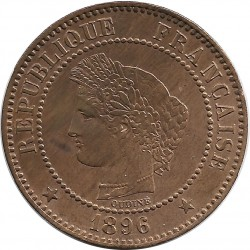 FRANCE 2 CENTIMES CERES 1896 A SUP-