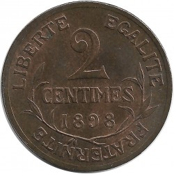FRANCE 2 CENTIMES DUPUIS 1898 SUP