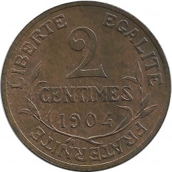 FRANCE 2 CENTIMES DUPUIS 1904 SUP