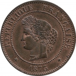 FRANCE 5 CENTIMES CERES 1873 A SUP+