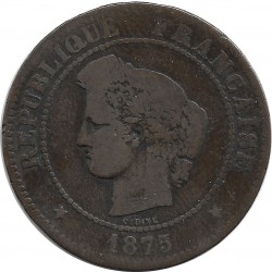 FRANCE 5 CENTIMES CERES 1875 K TB-