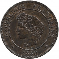 FRANCE 5 CENTIMES CERES 1880 SUP-