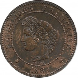 FRANCE 5 CENTIMES CERES 1884 A SUP