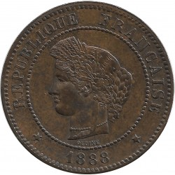 FRANCE 5 CENTIMES CERES 1888 A SUP-
