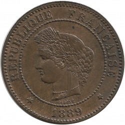FRANCE 5 CENTIMES CERES 1889 A SUP
