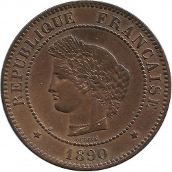 FRANCE 5 CENTIMES CERES 1890 A SUP