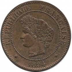 FRANCE 5 CENTIMES CERES 1894 A SUP