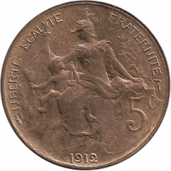 FRANCE 5 CENTIMES DUPUIS 1912 SUP+