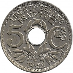 FRANCE 5 CENTIMES LINDAUER 1922 POISSY TTB+