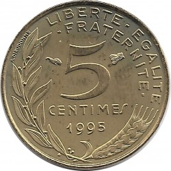 FRANCE 5 CENTIMES LAGRIFFOUL 1995 SUP/NC