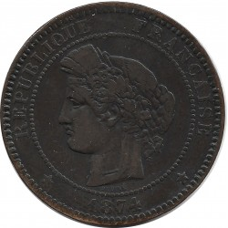 FRANCE 10 CENTIMES CERES 1874 K TB+