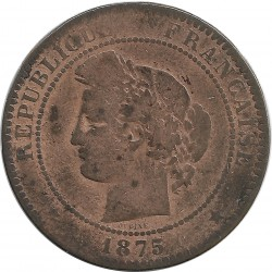 FRANCE 10 CENTIMES CERES 1875 A TB
