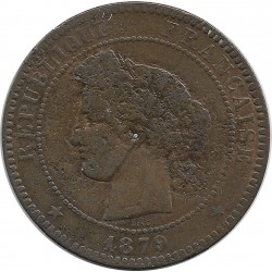 FRANCE 10 CENTIMES CERES 1879 A TB-