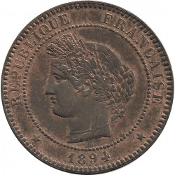 FRANCE 10 CENTIMES CERES 1894 A SUP