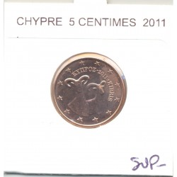 CHYPRE 2011 5 CENTIMES SUP-