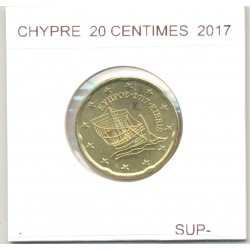 CHYPRE 2017 20 CENTIMES  SUP-