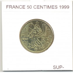 FRANCE 1999 50 CENTIMES  SUP-