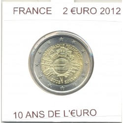 France 2012 2 EURO commemorative 10 ANS EURO