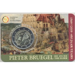 BELGIQUE 2019 2 EURO COMMEMORATIVE BRUEGEL COINCARD VERSION FLAMAND