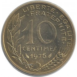 FRANCE 10 CENTIMES LAGRIFFOUL 1976 FDC