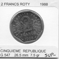 FRANCE 2 FRANCS ROTY 1988 SUP-