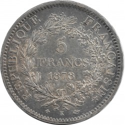 FRANCE 5 FRANCS DUPRE 1878 K SUP-