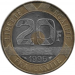 FRANCE 20 FRANCS MONT ST MICHEL 1996 SUP