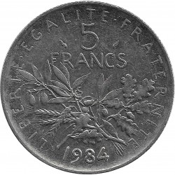 FRANCE 5 FRANCS ROTY 1984 SUP-