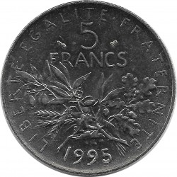 FRANCE 5 FRANCS ROTY 1995 SUP/NC