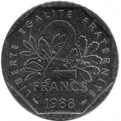 FRANCE 2 FRANCS ROTY 1988 SUP