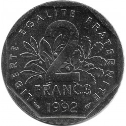 FRANCE 2 FRANCS ROTY 1992 SUP