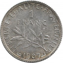FRANCE 1 FRANC ROTY 1907 SUP