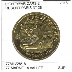 77 MARNE LA VALLEE  DISNEYLAND RESORT Numero 28 LIGHTYEAR CARS 2 2018 SUP