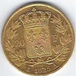 FRANCE 20 FRANCS OR CHARLES X 1825 A ( PARIS ) etat TTB GOLD ORO