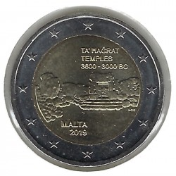 MALTE 2019 2 EURO COMMEMORATIVE TEMPLE TA HAGRAT SUP