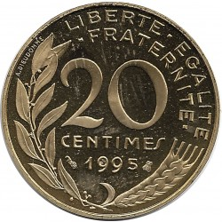 FRANCE 20 CENTIMES LAGRIFFOUL 1995 BE