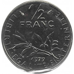 FRANCE 1/2 FRANC ROTY 1979 FDC