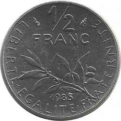 FRANCE 1/2 FRANC ROTY 1985 FDC
