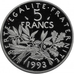 FRANCE 5 FRANCS ROTY 1993 BE