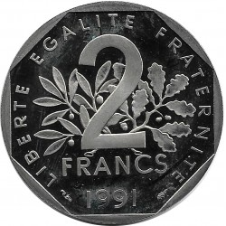 FRANCE 2 FRANCS ROTY 1991 BE
